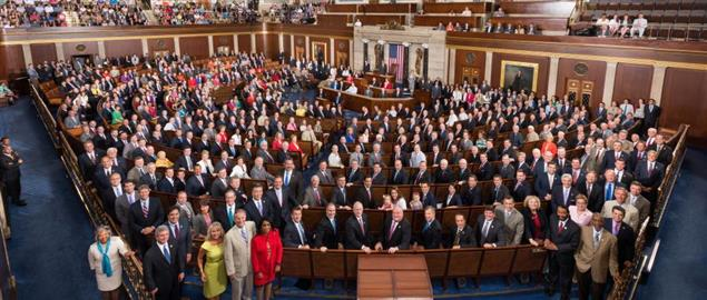 Official photo of the 114th United States Congress