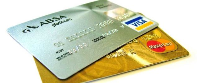 A gold and silver Visa and Mastercard