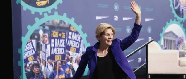 Senator Elizabeth Warren at the 2019 National Forum on Wages and Working People