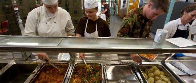 Army Chefs prepare and deliver hot-box meals to emergency service workers
