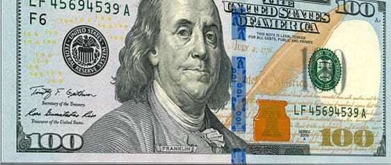 US 100 Dollar Bills 2015 release