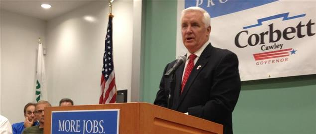 PA Governor Tom Corbett in Allentown, campaigning for re-election 11/8/2013.