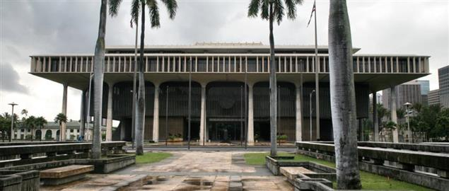 Hawaii State Capitol, Honolulu.