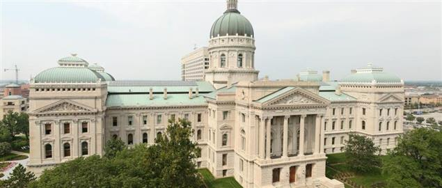 Indiana State Capitol building.