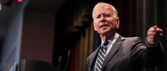 Joe Biden speaking at the 2019 Iowa Federation of Labor Convention in Altoona, IA