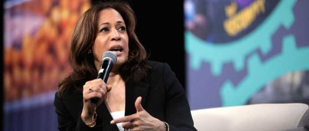 Senator Kamala Harris speaking at the 2019 National Forum on Wages and Working People