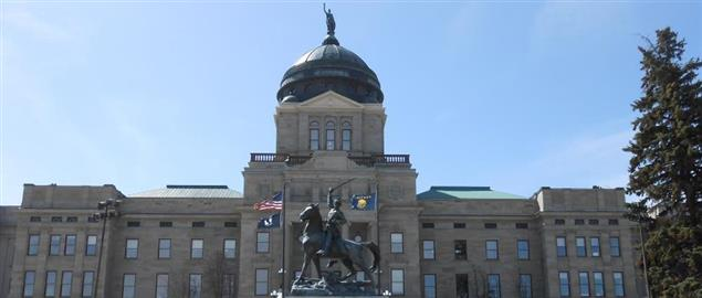 Thomas Francis Meagher statue in front of Montana Capitol, 2013