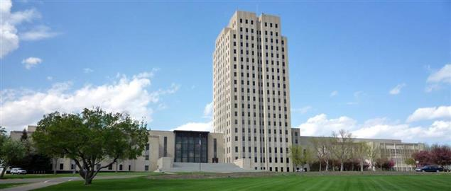 North Dakota State Capitol, Bismarck, North Dakota.