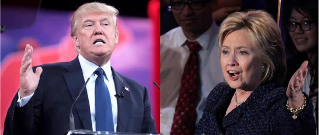 Rep. Presidential candidate Donald Trump and Dem. Presidential Candidate Hillary Clinton